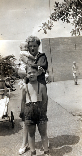 My mother, Gene and me 1945