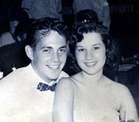 Joel, Diane Karnett, Jane Brinker and beau. Prom Night 1958