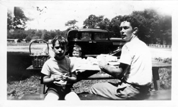 Harold, Joel, Gene, Lake Hopatcong 1947